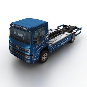 2017 edelivery truck chassis 3D