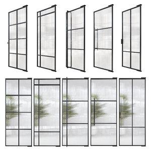 doors stalen deuren huys 3D