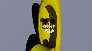 creepy banana 3D model