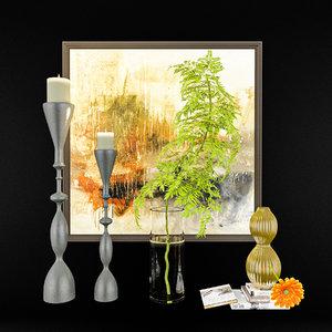 3D decorativ set decorative