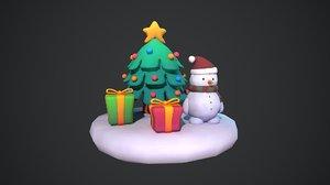 3D christmas holiday xmas