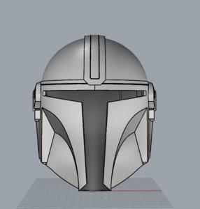 mandalorian helmet 3D