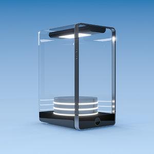 3D model phone glass case
