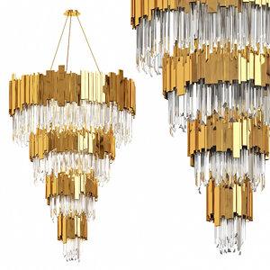 3D chandelier le