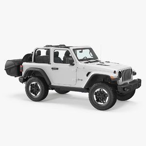 3D jeep wrangler thule transporter model
