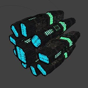 3D spaceship motor model