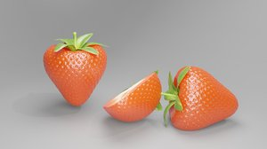 3D straw berry fruits