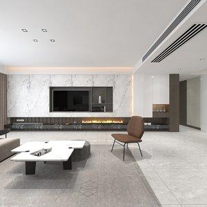 3D interior living model