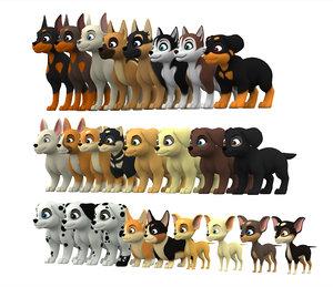 rottweiler puppy 3D model