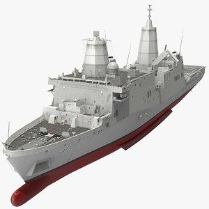 3D san antonio class amphibious