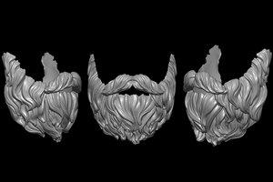 3D model beard