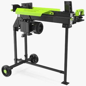 3D electric log splitter stand