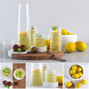 lemonade decorative fruit 3D model