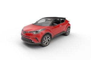 3D car: toyota c-hr 2017 model