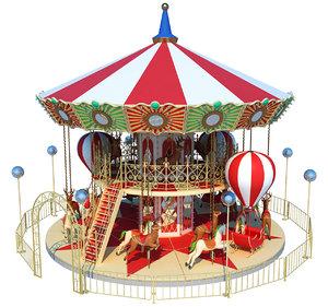amusement carousel 3D model