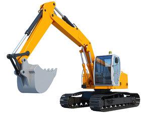 excavator industrial construction 3D model