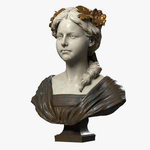 decorative bust child 3d max