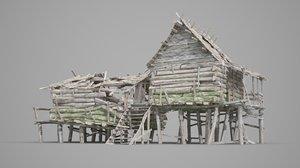 old hunter cabin 3D model