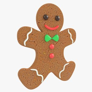 gingerbread man christmas cookie model