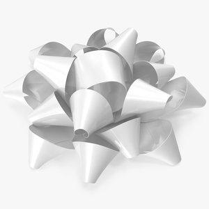 3D white bow v 5