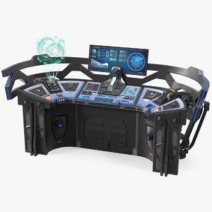 3D futuristic control panel