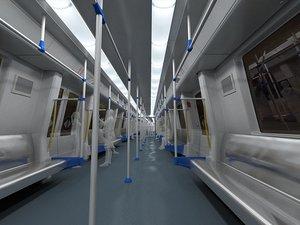 metro subway interior 3D model