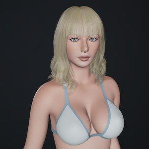 female character base mesh model