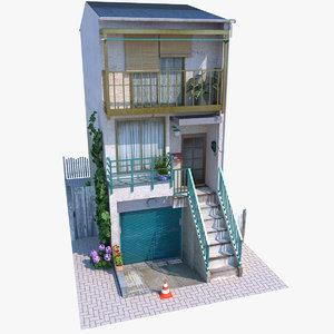 japanese narrow 3D model