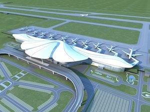 3D airport architecture model
