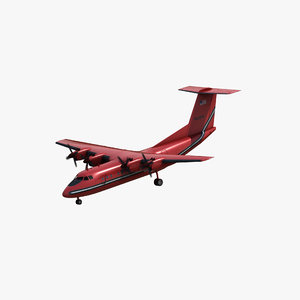 dash-7 aircraft 3D model