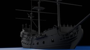 black pearl pirates ship 3D