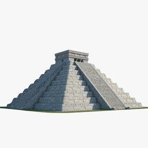 3D model pyramid kukulkan