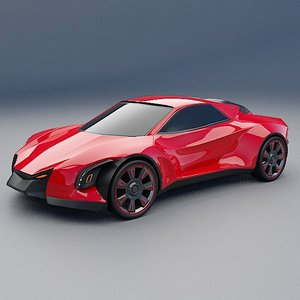 3D concept car blendeox