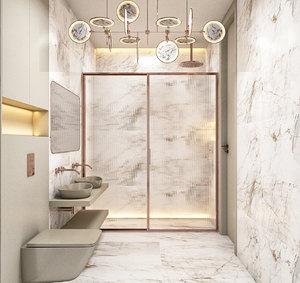 bathroom chandelier nebula model