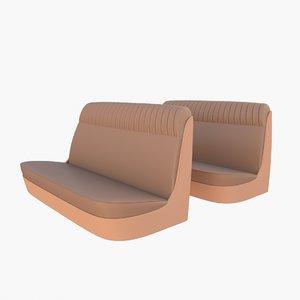 generic 40s car seats 3D model