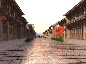 3D model interior view new chinese