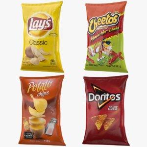 chips bags s 3D model