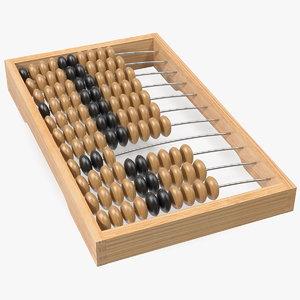 3D soviet wooden abacus model