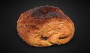 pain chocolat au 3D