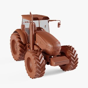 3D tractor agricultural