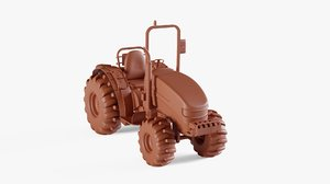 tractor agricultural 3D model