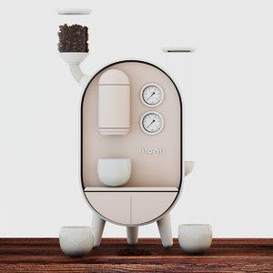 3D moon coffee maker cm