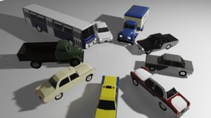 3D packs soviet vehicles car