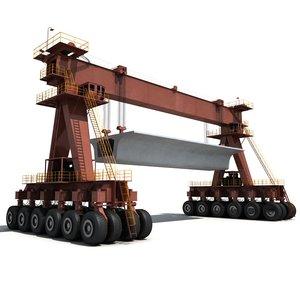 wheeled beam lifter 3D model