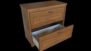 drawers cabinet 3D model