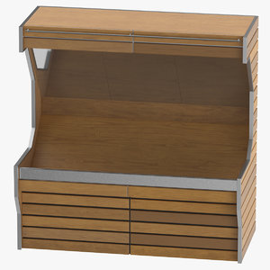3D wooden grocery unit fruits