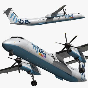 bombardier dash 8 flybe 3D