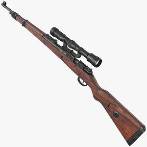 3D mauser karabiner 98 kurz