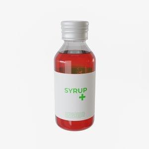 3D model syrup bottle