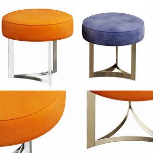 3D mone stools model